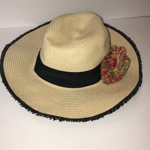 NWT Betsy Johnson straw hat